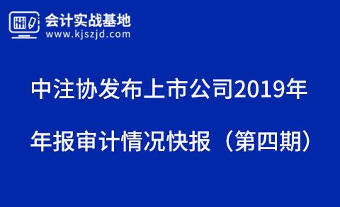 中注协发布上市公司2019年年报审计情况快报(第四期)