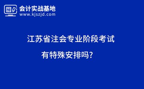 江苏省注会专业阶段考试有特殊安排吗?