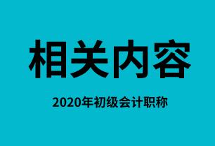 关于2020年初级会计职称考试计划和其他事项内容